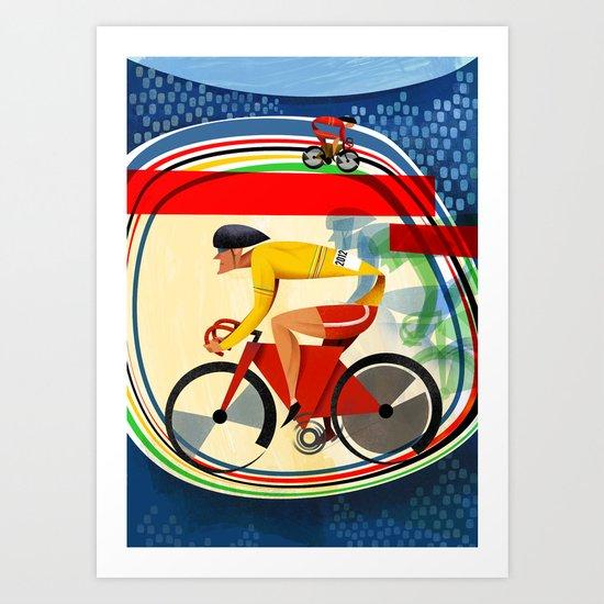 Track Cycling Championship Poster Cycle Bike Art Print