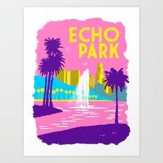 Echo Park Art Print
