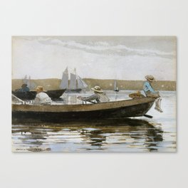 Boys in a Dory by Winslow Homer, 1873 Canvas Print