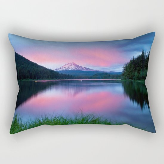 Lake Reflections Rectangular Pillow