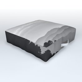 Misty mountains. Yesterday at sunset Outdoor Floor Cushion