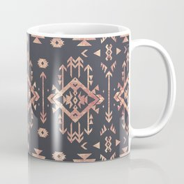 Trendy tribal geometric rose gold pattern Coffee Mug