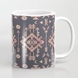 Trendy tribal geometric rose gold pattern Coffee Mug