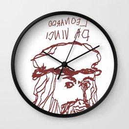 Da Vinci Was Left Handed Wall Clock