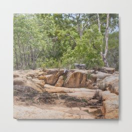 Peace among the rocky surrounds. Metal Print