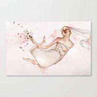 bride Canvas Prints featuring bride by Shiri Ashkenazi