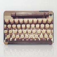 typewriter iPad Cases featuring typewriter by Bunny Noir