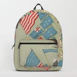 Flags of American History (1901) Historic USA Symbols Backpack