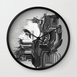 Glitch portriat Wall Clock