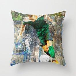 Soccer Player Art Throw Pillow