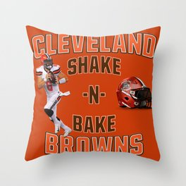 Shake n Bake  Browns Throw Pillow
