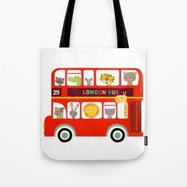 Animal Bus Tote Bag