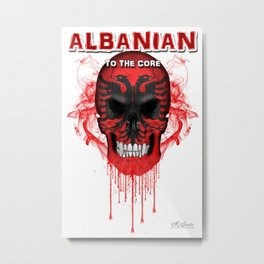 To The Core Collection: Albania Metal Print