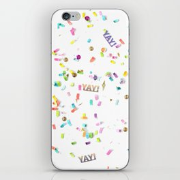 Yay Confetti iPhone Skin