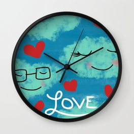 Love In The Clouds Wall Clock