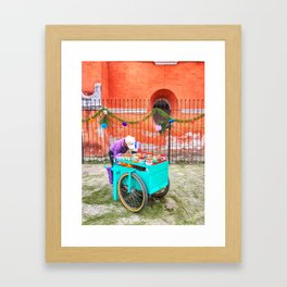 Raspado Cart, Holy Week 2017 Framed Art Print