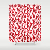 sale Shower Curtains featuring SALE pattern by turbo1019