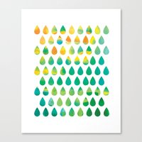 rain Canvas Prints featuring Monsoon Rain by Picomodi