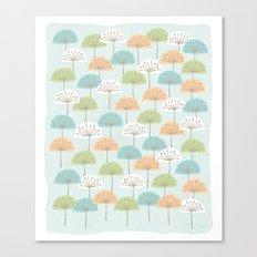 wispy flowers Canvas Print