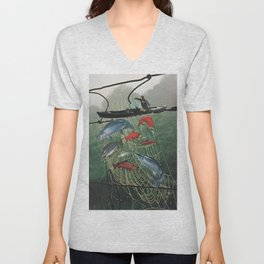 Salmon Trap Unisex V-Neck