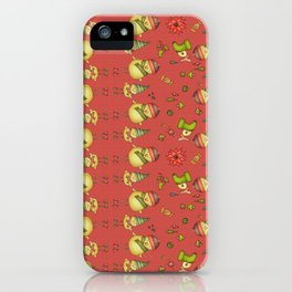 Two Chicks Pattern ~ Red iPhone Case