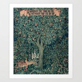 William Morris Greenery Tapestry Part 1 Art Print