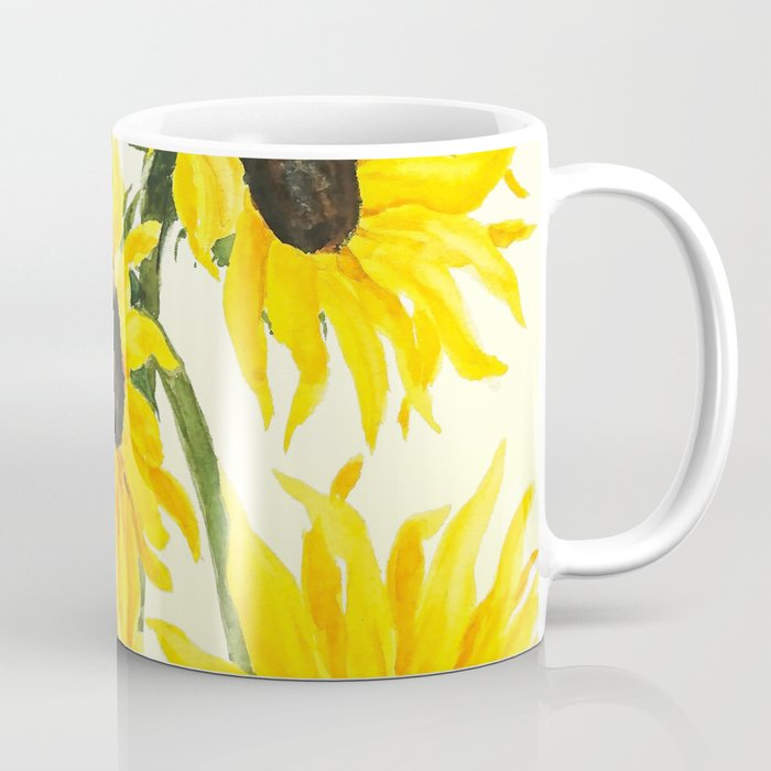 sunflower watercolor 2017 Coffee Mug