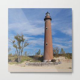 Little Sable Lighthouse Metal Print