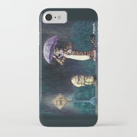 hobbes iPhone & iPod Cases featuring My Neighbor Hobbes by Josh Mauser