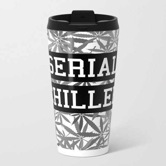 Serial Chiller B&W Metal Travel Mug