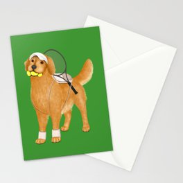 Ready for Tennis Practice (Green) Stationery Cards