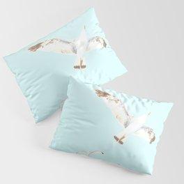 Seagulls Flying Pillow Sham