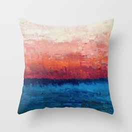 Abstract painting, Ocean Throw Pillow