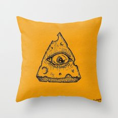 In Cheese We Trust Throw Pillow