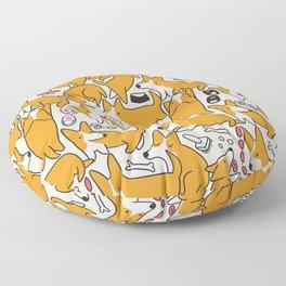 Funny corgis Floor Pillow