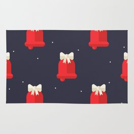 Red Christmas Bell Pattern Rug