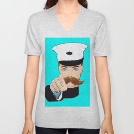 Ken Doll Needs You! Spoof on this Iconic Wartime Poster! Unisex V-Neck