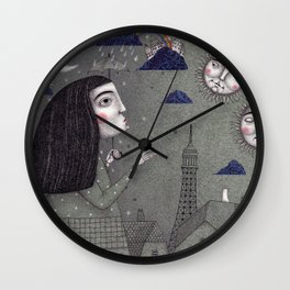 Above the Rooftops Wall Clock