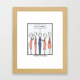 Introvert In The Wild (cartoon 670) Framed Art Print
