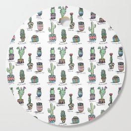 Cactus and Succulent Pattern Cutting Board