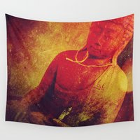 meditation Wall Tapestries featuring Meditation by DMoniqueB