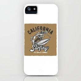 California Surfing iPhone Case