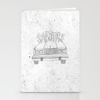 beastie boys Stationery Cards featuring BEASTIE BOYS Y'ALL by Josh LaFayette