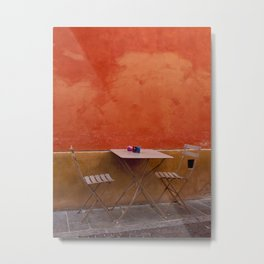 Colorful Cafe Metal Print