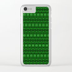 Dividers 07 in Green over Black Clear iPhone Case