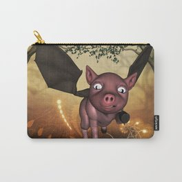 Funny little piglet with wings Carry-All Pouch