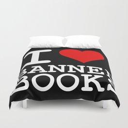 I Heart Banned Books (On Black) Duvet Cover