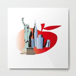 Big Apple Metal Print