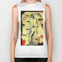 women Biker Tanks featuring Women by sladja