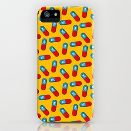 Deadly but Colorful. Pills Pattern iPhone Case